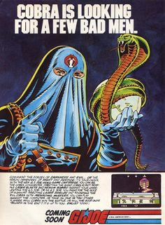 """Cobra is looking for a few bad men."" to play the GI Joe Atari 2600 Video Game"