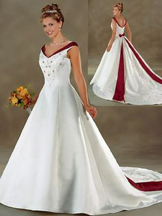 Red and Ivory Wedding Dress_Wedding Dresses_dressesss