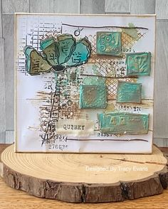 """Card using Tracy Evans Stamp """"Wild and Free"""" from AALLandCreate (craftaddicts-trac.) and free"""