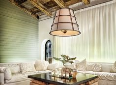 """Habitat Pendant Light Item No. F3906   Dimension 30""""W 31.5""""H  Lamping 6-60W Cand Base Shades Hardback Linen MetalworkHand-Worked Iron Finishes Liberty Rust  To request a quote, please click on the """"Contact Us"""" link at www.dyerelectrical.com"""