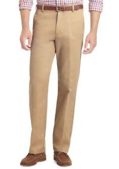 IZOD English Khaki Wrinkle Free American Chino Straight Fit Chino Pants