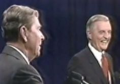Reagan Jokes About His Age: During the 1984 election, President Ronald Reagan faced off against former Vice President Walter Mondale. Reagan was 73-years-old at the time of the election and the oldest sitting president in American history. The President's age was an issue during the '84 campaign, and Reagan addressed the issue head-on in a comedic fashion that both disarmed the sting of the attack on his age and reaffirmed Reagan's wit was still intact.