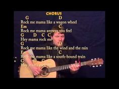 Wagon Wheel - Fingerstyle Guitar - G D Em C - Capo 2nd - Cover Lesson with Lyrics - YouTube