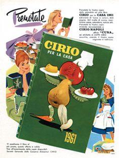 "PUBBLICITA' ""AGENDA CIRIO PER CASA"" 1960  #cirio #vintage  www.cirio.it"