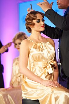 Fingerwaves by Patrick Cameron live at Salon International 2012 #hair #vintage #fingerwaves