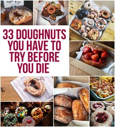 33 Doughnuts You Have To Try Before You Die. Great list, but where is Voodoo Doughnut? Donut Recipes, Dessert Recipes, Cooking Recipes, Desserts, Baked Donuts, Doughnuts, Food Places, Places To Eat, Good Food