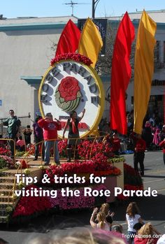 Planning to spend New Years Day at the Rose Parade? These tips will help you manage the crowds & options. #RoseParade #NewYearsDay http://www.tripwellness.com/visiting-rose-parade-new-years-day-flowers-floats/