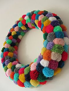 By Villa Lisa. This might be it!  I've been looking for both a pon pom AND a wreath project.  POW!