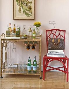 How to set up a bar cart