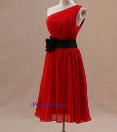 Bridesmaid Dress Red Bridesmaid Dress Knee by Promgirlsdress