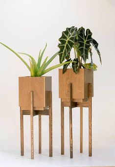 Mid Century Modern Plant Stand with Pot, Plant Stands Indoor, Large Planter with Drainage, Planter with Saucer - xpnant. Modern Planters, Large Planters, Indoor Planters, Indoor Outdoor, Modern Plant Stand, Diy Plant Stand, Plant Stands, Home Decoracion, Diy Wood Projects