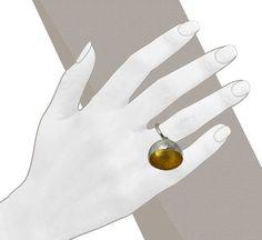 Galerie Elsa Vanier / Vente bijoux en ligne - achat Bague Argent 925°/°° et or jaune 18ct (750°/°°) Bague Mine d'or createur Laurence Oppermann