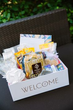 Guest Welcome Baskets   Creative Intelligence Inc.   Tory Williams Photography   TheKnot.com