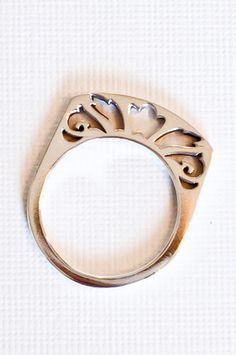Floral cut out ring