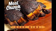 Beef Ribs - YouTube Bbq Beef Ribs, Beef Short Ribs, Bbq Pork, Bbq Grill, Pellet Grill Recipes, Smoker Recipes, Grilling Recipes, Texas Bbq, Smoke Grill