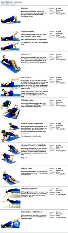 Core Exercises » Health And Fitness Training