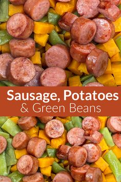 Do you have a hankering for a classic meal that can be put together in less than 15 minutes? Smoked sausage, sweet potatoes, and green beans are the perfect combination to make a quick meal in the Instant Pot. Our family thinks the best combination of potatoes is sweet potatoes and smoked sausage! We like to add some green beans to get more vegetables in our diet. Even the picky eaters in our family love this easy dinner! Recipes Using Pork Chops, Pork Recipes For Dinner, Easy Family Meals, Quick Meals, Simple Meals, Sausage Potatoes, Cooking Recipes, Healthy Recipes, Dinner Options