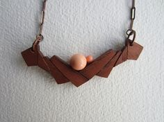 Wooden Necklace by Jdondesign on Etsy, €30.00