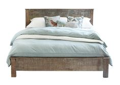 Hampton Queen Bed 54001283Features :Mixed ReclaimedNatural cracks and knots inherent in salvaged wood have been preservedSolid wood constructionHand distressed wood finishEach piece is uniqueHb 44