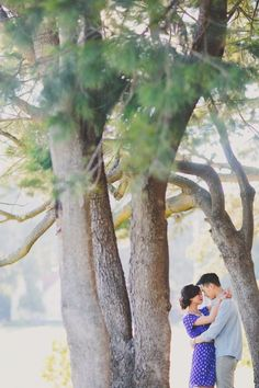 engagement inspiration, purple dress, yellow belt, chambray shirt, outdoor engagement, side bun hairstyle, taylor lord photography