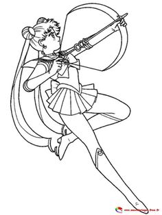 Printable Adult Coloring Pages, Coloring Pages For Girls, Cute Coloring Pages, Coloring Books, Kids Coloring, Coloring Sheets, Sailor Moon Background, Sailor Moon Wallpaper, Black And White Sketches