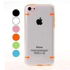 Twee+Kleuren+transparante+plastic+kast+en+TPU+Frame+voor+iPhone+5C+–+EUR+€+2.93 Cheap Iphones, Iphone 5c Cases, Plastic Case, Frame, Color, Colour, Frames, Hoop, Colors