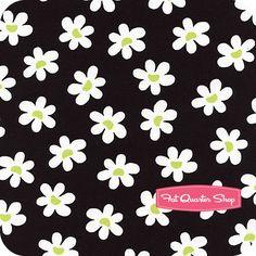 Sun-Kissed+White+Daisies+on+Black+Yardage+SKU#+3329-12