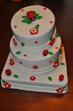 Ladybug bday cake