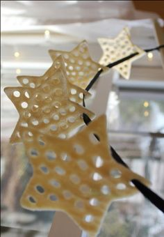 Lacy punched salt dough ornaments: http://www.artfulparent.com/2011/12/punched-salt-dough-ornaments-beaded-ones-too.html