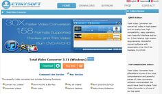 Video Converter -  Total Video Converter is a piece of extremely powerful and full-featured converter software that supports almost all video and audio  formats. The software is designed to convert video for your mobile video player as 3gp, mp4, PSP, PS3, iPod, iPhone etc and also VCD or DVD player, XBOX360.