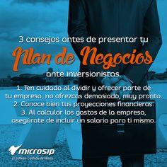 #TipsMicrosip 3 consejos antes de presentar tu Plan de Negocios ante inversionistas.