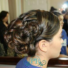 Curls, updo, prom, wedding, long hair, medium length hair bride updo, bridal hair wedding hairstyle