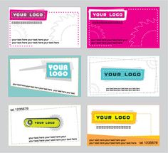 Different style and color for business cards.