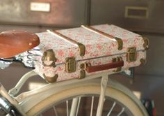 The BEG Floral Suitcases, classically styled dutch bikes and accessories from Beg Bicycles
