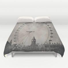 #Society6 #art #decor #DuvetCovers Big Ben And The London Eye...