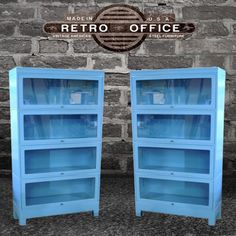 Vintage Steel Lawyers Bookcase - Fully Restored Barrister Bookcase. $1,100.00, via Etsy.