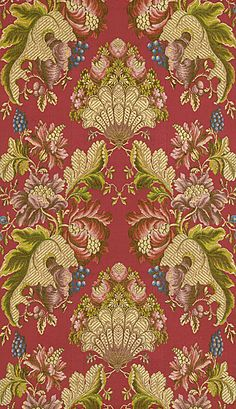 Silk brocade, France, 1730s
