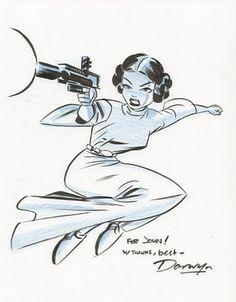 Princess Leia by Darwyn Cooke