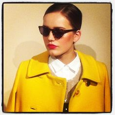 Cool and colorful at @JCrew_insider #nyfw