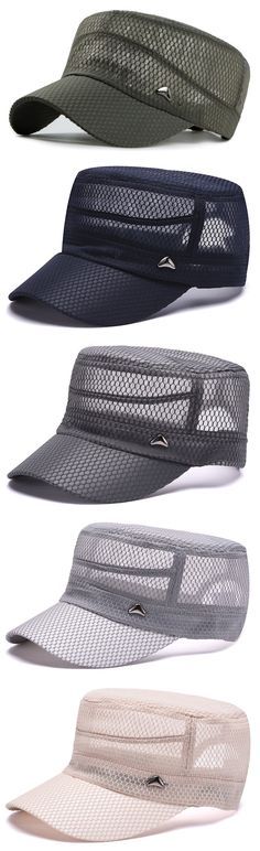 Mens Summer Mesh Breathable Quick-dry Flat Hat Outdoor Sunshade Military Baseball Caps is hot sale on Newchic. Ankle Boots With Leggings, Winter Leggings, Flat Hats, Sneakers Street Style, Summer Hats, Baseball Caps, Mens Caps, Hats For Men, Caps Hats