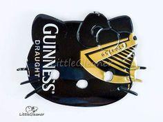 Black Hello Kitty Magnet  Made from Guinness beer by LittleGleaner