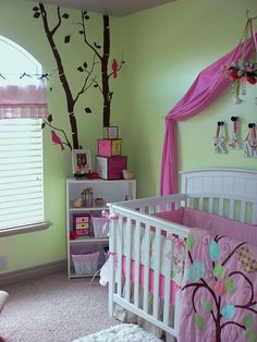 Adorable room for a baby girl!