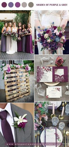jewel tone shades of purple and grey fall wedding color palette september wedding ideas / burgundy fall wedding / fall wedding color schemes / fall boquette wedding / fall wedding idea Grey Purple Wedding, Jewel Tone Wedding, Fall Wedding Colors, Wedding Ideas Purple, Vintage Purple Wedding, Purple Wedding Decorations, Purple Orange Weddings, Grey Wedding Theme, Different Wedding Ideas