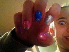Sparkly press on nails  GLITTER!!!! Follow: i will follow back Comment: i will follow u and send shout out in comment section Like: i will follow you  pin this all of the above