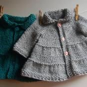 so simple an adorable! Baby   Toddler Tiered Coat and Jacket - via @Craftsy