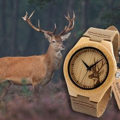 BAMBOO WOOD WATCH / DEER SPAIN – Fashionbonline