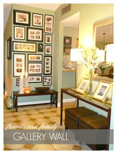 I need to do this in my hallway.  Family pictures.  Gallery wall.  Collage of collages.