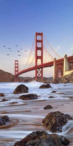 Iphone Wallpaper Texture, Free Android Wallpaper, Nature Iphone Wallpaper, Go Wallpaper, Phone Wallpaper Images, Sunset Wallpaper, Apple Wallpaper, Golden Gate Bridge Wallpaper, San Francisco Wallpaper