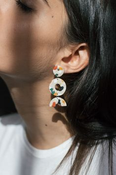 Shape Earring - Terrazzo