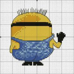 Minion. Cross stitch pattern 2 back